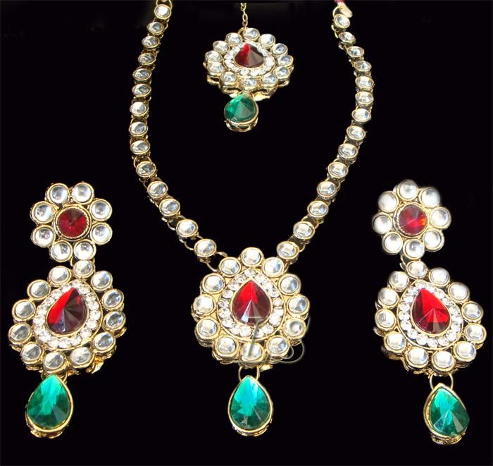 Buy 1 Gram Gold Forming Ethnic Polki Set Online Best Prices in