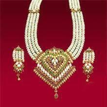 Buy Rich Pearls & Navratna Rani Haar online
