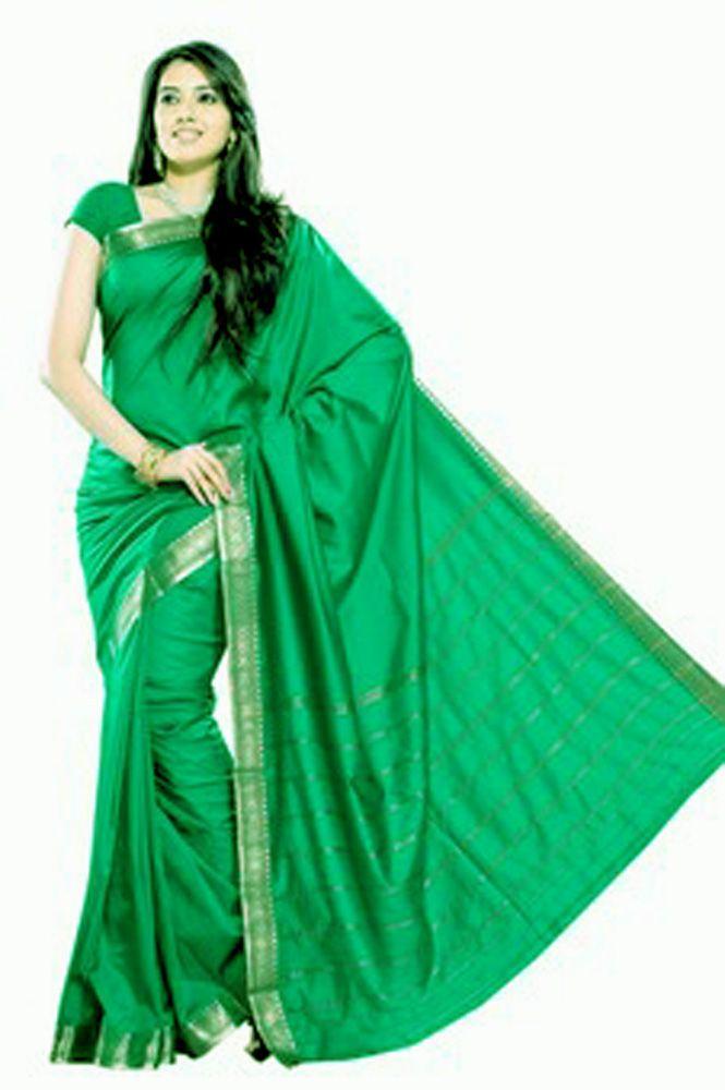 Buy Green Art Silk Saree online