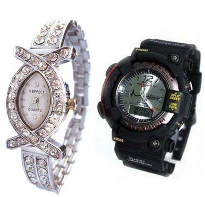 Buy Buy 1 Get 1 Free- Stylish Wrist Watches 44 online