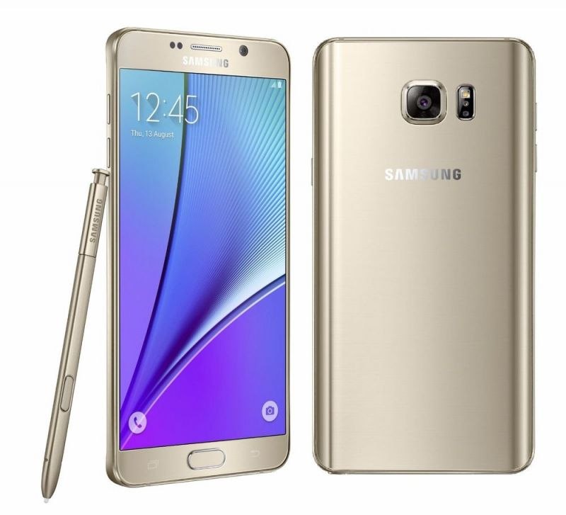 Buy New Launch Imported Samsung Galaxy Note5 32GB 4GB 16mp Android Os, V5.1.1 Gold online