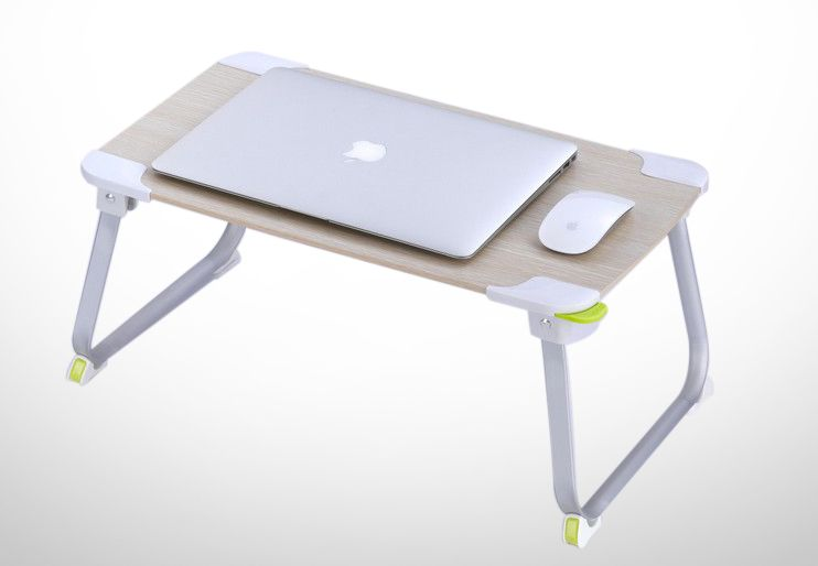 Buy Portable Folding Aluminium Wooden Etable Multipurpose Laptop Table  Online