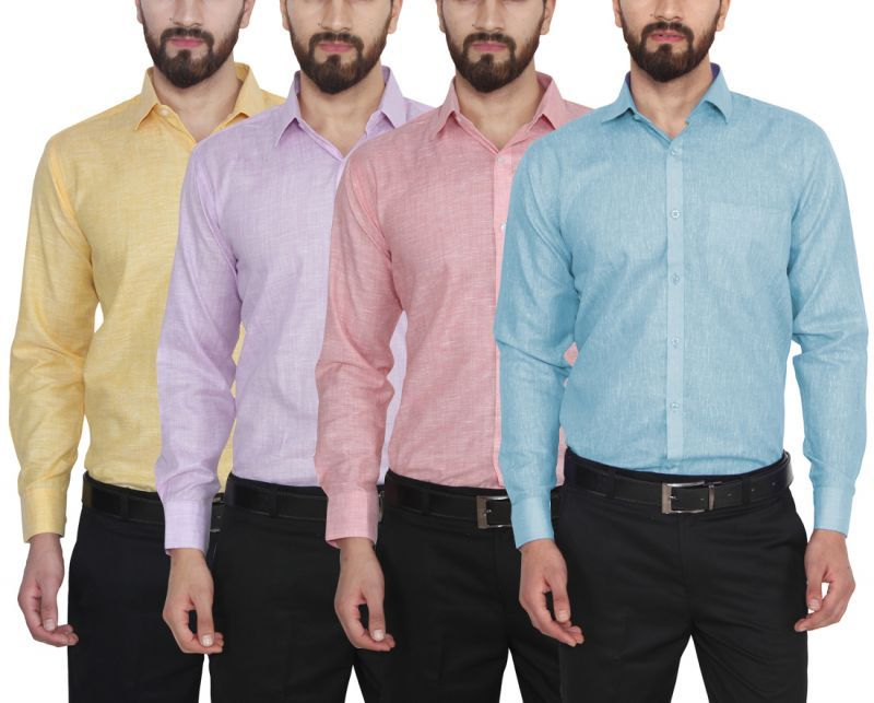 Buy Utility Studio Pack Of 4 Cotton Shirts online