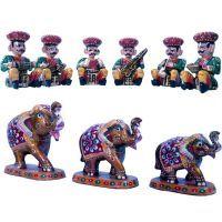 Buy Buy Sunshine Rajasthan Musician Set N Get Paper Mache Handicraft Free online