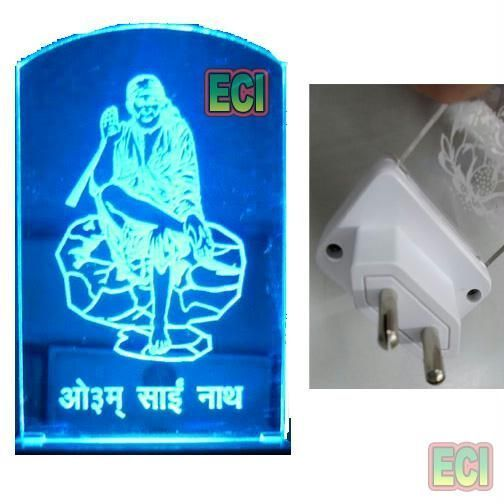 Buy Om Sai Ram, Shirdi Sai Baba Night Lamp Light 220v online