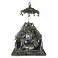 Buy Shirdi Sai Baba Idol Oxidized Silver Finish Metal Statueosb online
