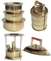 Buy Ranger Brass Antique Iron, Pan Set, Tiffin Box & Stove Miniature Model online