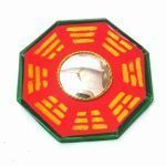 Buy Bagua Mirror (wooden) (5x5 Inches) For Good Fortune Pakua Mirror Fengshui online