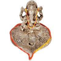 Buy Sunshine Rajasthan Lord Ganesha Pretty Pooja Idol In White Metal 308 online