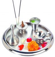Buy Silver Queen Puja Thali Set Sqpt 098 online