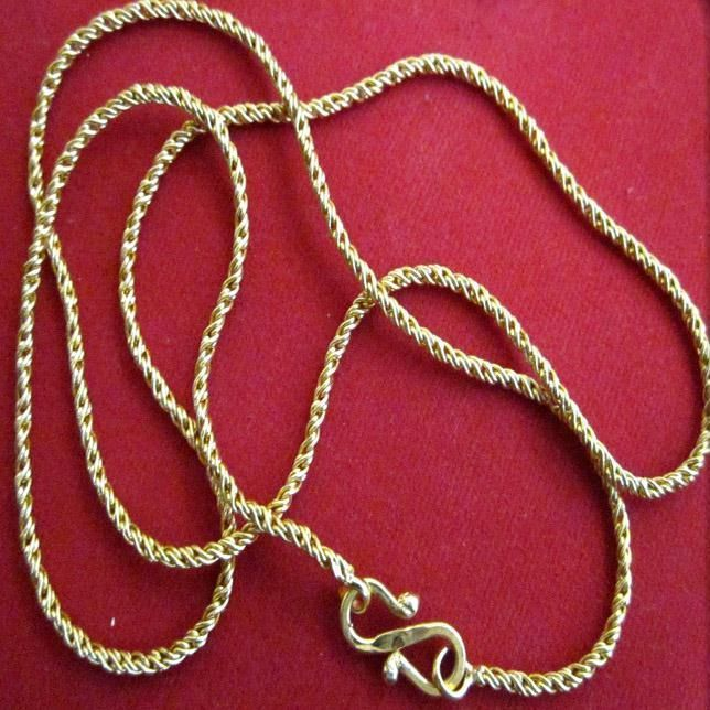 Buy Unisex 1g Gold Plated Foaming Artificial Chain online