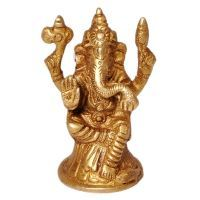 Buy Sunshine Rajasthan Real Brass Antique Lord Ganesha Beautiful Idol 356 online