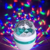 Buy Rotating LED Light Mini Party Dance Disco Dj Stage Crystal Ball Effect Lamp online