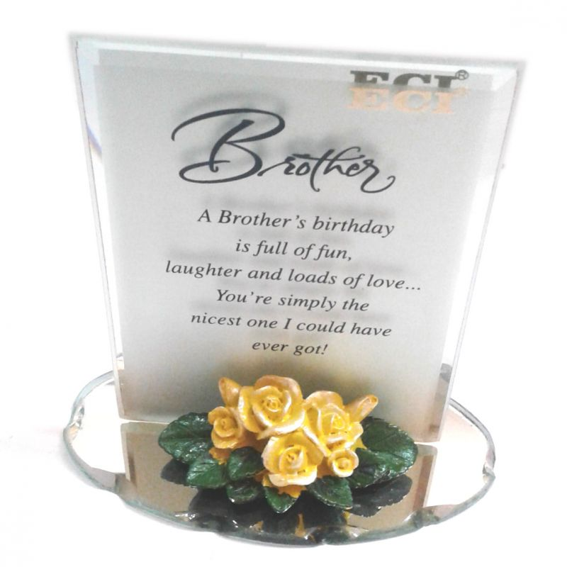 Buy Eci Birthday Gift For Brothers Glass Crystal Showpiece With Quotation Online