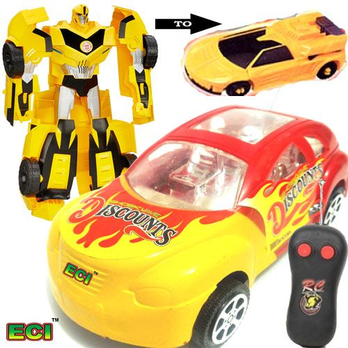 Buy Transformers Robot Turns Into A Car + Wireless Remote Car online