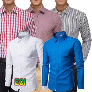 Buy Pack Of 5 Assorted Formal Shirts For Mens (plain Stripes) online