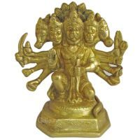 Buy Panchmukhi Hanuman God Brass Statue,religious God Idol For Pooja online
