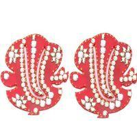 Buy Decoratives - Stone Studded Ganesha Pair online