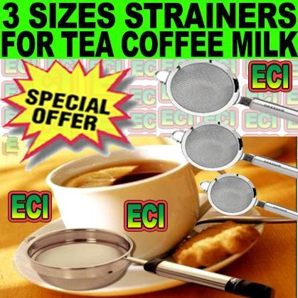 Buy 3 Sizes Stainless Steel Kitchen Tea Milk Strainer online