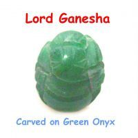 Buy Ganesha Carved On Green Onyx online