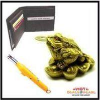 Buy Leather Wallet Fengshui Frog Gas Lighter online