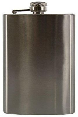 Buy 9 Oz London Hip Bottle Wine Vodka Whisky Flask Pure Leather Stainless Steel online