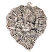 Buy Sunshine Rajasthan Oxidized White Metal Leaf Ganesha Idol Hanging 322 online