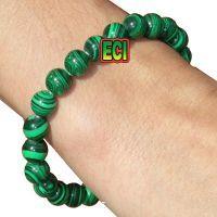 Buy Eci - Original Malachite Green Gemstone Bracelet Semiprecious Stone Beads online