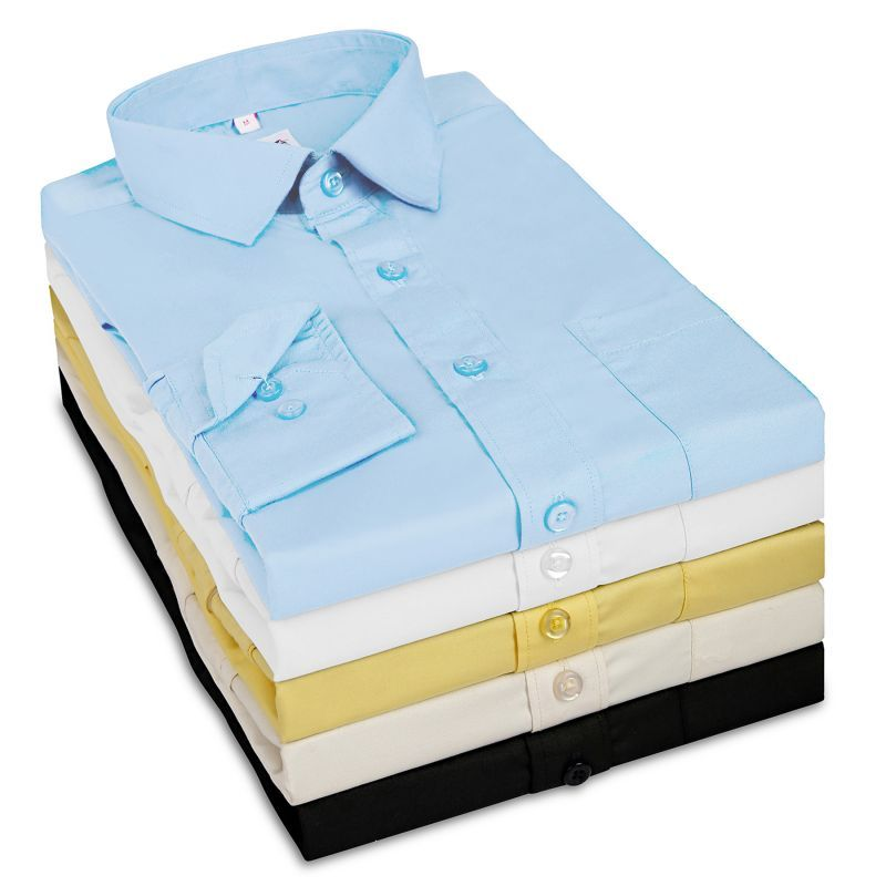 Buy G-15 Men's Formal Full Sleeves Shirt Lb - Pack Of 5 online