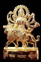 Buy Gold Clave Gold Plated Durga Idol online