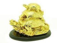 Buy Triple Tortoise Fengshui (golden) Fengshui Tortoise Fengshui online