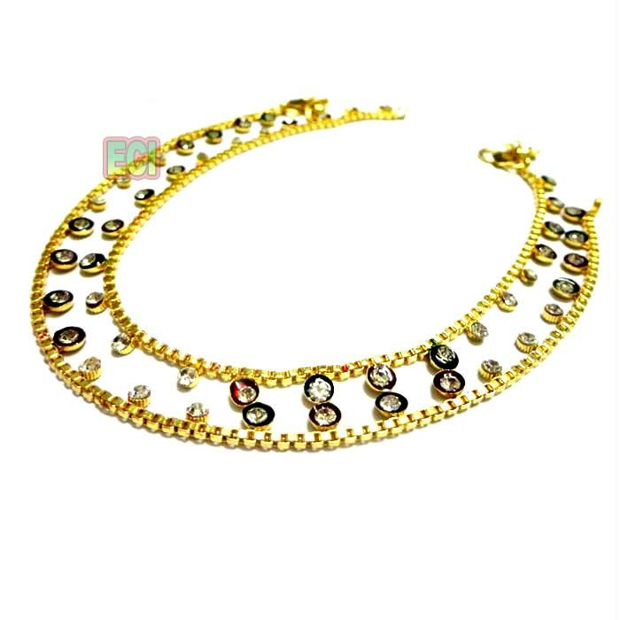 item anklet chain beach ankle rhinestones shape cool com centipede supplies dresswe