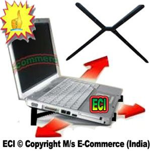 Buy Eci - Natural Air Laptop Cooling Stand Scissor Shaped Foldable Podium Cross online