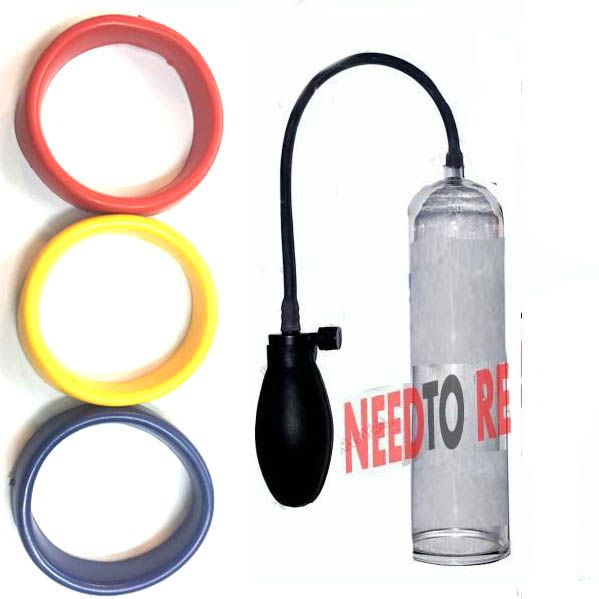 Buy Man's Pump Male Enhancement System With 3 Silicone Sleeves online