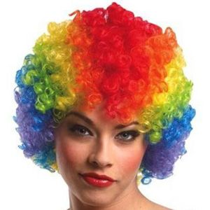 Buy Rainbow Party / Cricket Wig, Multi Color Hair Costume Clown Afro Wigs Prank online
