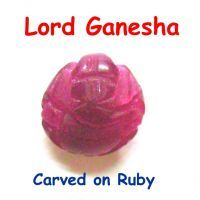 Buy Ganesha Carved On Red Jade online