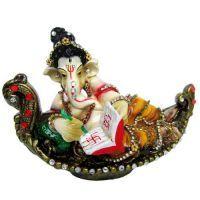 Buy Munim Ji Ganesha Seated On Hansasana Singhasan online