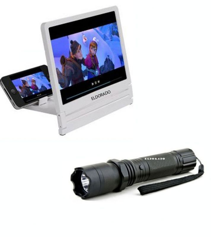 Buy Self Defense Stun Gun With Torch With 3d Folding HD Screen Magnifier online