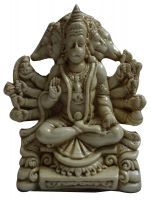 Buy Beautiful White Resin Panch Mukhi Hinduism God Ganesha Ganesh Figurine Stat online