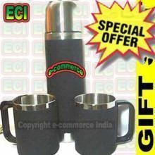 Buy Stainless Steel Vacuum Thermo Flask 2 Thermo Cups online