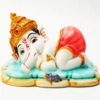 Buy Ghasitaram Gifts-crown Sleeping Ganesha online