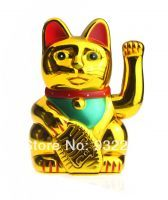 Buy Chinese Feng Shui Golden Waving Fortune/lucky Cat 5 online