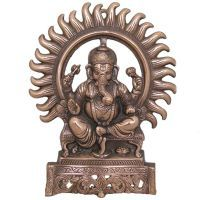 Buy Divya Mantra Ganesha Wall Decorative Antique Copper Finish online