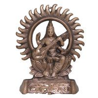 Buy Divya Mantra Divya Mantra Saraswati Wall Decorative Antique Copper Finish online