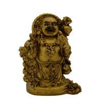 Buy Feng Shui Laughing Buddha Antique Golden Finish online