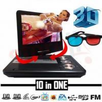 Buy 3d 9.8 Inch TFT Portable DVD Player With TV Tuner USB SD Card Slot online