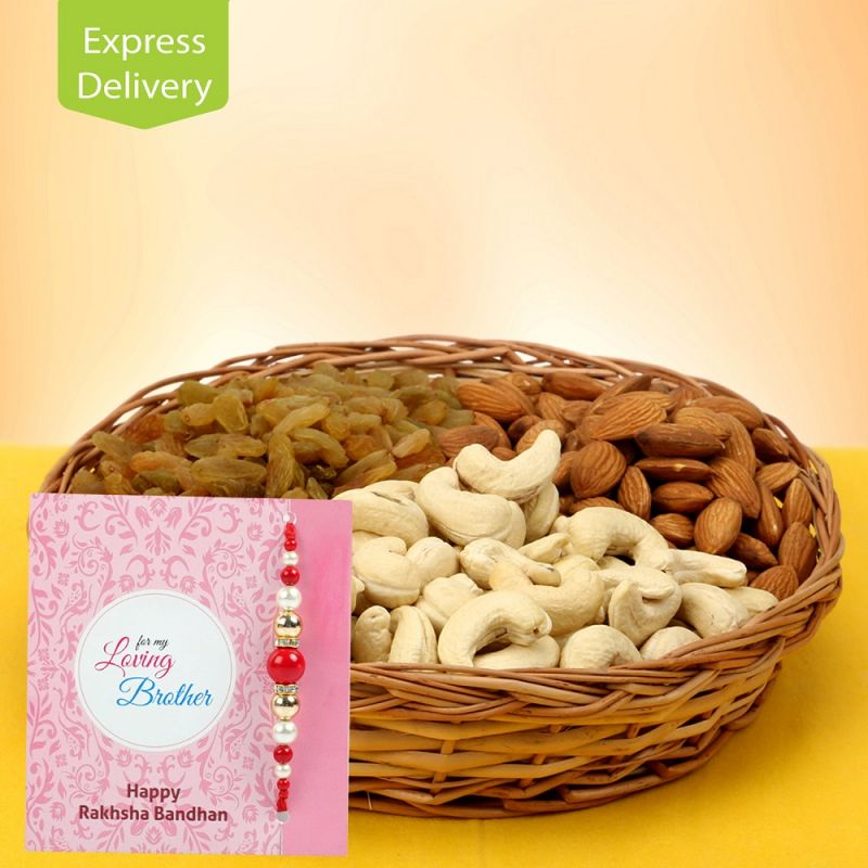 Buy Pearly Rakhi Hamper online