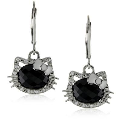 Buy Ag Gem Diamond Black Round Gemstones Earring online