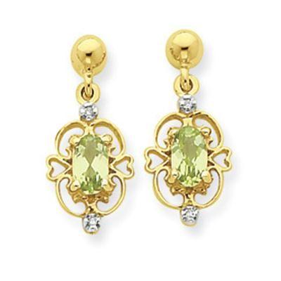 Buy Aggem Diamond Oval Gemstones Traditional Earring online