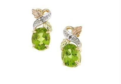 Buy Ag Gem Real Diamond Green Gemstones Earring online